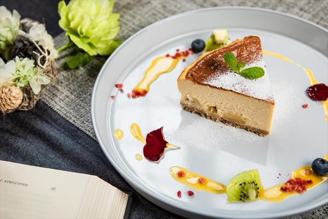キャラメルりんごのベイクドチーズケーキ